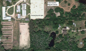 VIEW OF SHOW RINGS, CROSS COUNTRY RINGS, FACILITY AND MORE!